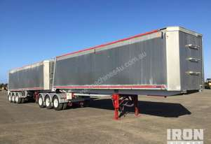 2013 Gippsland Body Builders Tri/A B-Double Combination Tipping Trailer