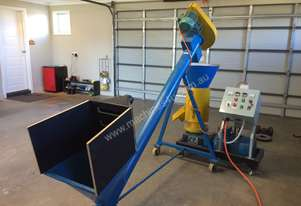Pelletiser for wood shavings, straw, rice hull, saw dust or similar materials