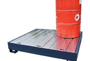 Drum Bunds & Spill Pallets. 4 drums - powder coated steel