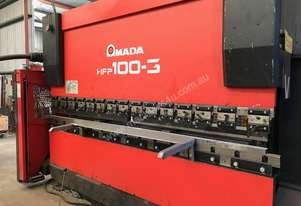 200-Amada HFP 100-3 Hydraulic Press-Brake-CNC-Back-Gauge
