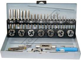 T013 Metric HSS Tap & Die Set - 32 Piece  M3, M4, M5, M6, M8, M10, M12 Taps & Dies - picture0' - Click to enlarge