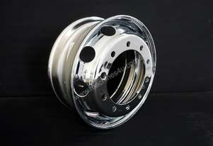 10/335 8.25x22.5 Chrome Steel Steer Rims