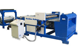 Machine Makers 1270mm x 1.6mm Slitter & Blanking Line Complete with In Feed Nip Rolls, PLC Control,