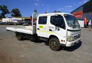 2008 Hino 300C Dual Cab Table Top Truck (IND004) (See Gregsons Note) (GA1182)