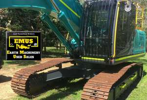 2018 Kobelco SK210LC-10, only 95hrs, attachments. E.M.U.S. MS612