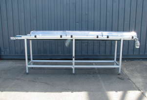 Long Motorised Belt Conveyor with Covers - 3.65m long