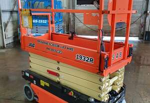 19ft 6 metre narrow electric scissor lift JLG