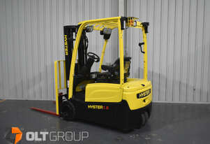 Hyster 3 Wheel Electric Forklift 1.8 Tonne 4600mm Container Mast Low Hours Current Model