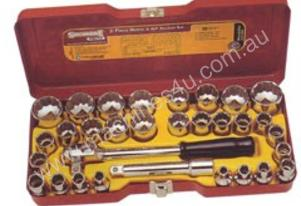 STANLEY Socket Set AF/Metric 31 Piece