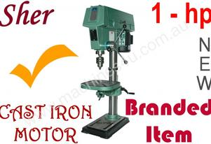 Drill Press SHER, 1-hp, 12-speed, SOLID BUILT