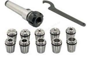 R8/ER25 Collet Chuck Set with 10 Metric Collets