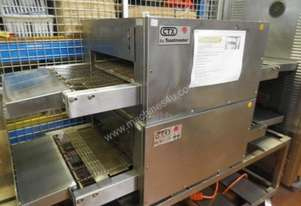 2x Second Hand Single Deck Conveyor Pizza Oven