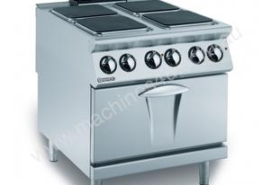 Mareno ANC9FE-8E 4 x 4 kW Square Hotplates on Electric Oven
