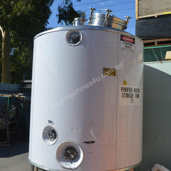 2000L 316 pressure rated insulated Storage Tank