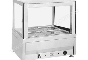 F.E.D. BM4SD Heated Wet Four x½ Pan Bain Marie Square Countertop Display