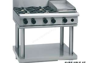 Waldorf 800 Series RNL8603G-LS - 900mm Gas Cooktop Low Back Version `` Leg Stand