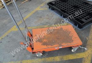 Flat bed Trolley with a S/S Handle (foot brake)