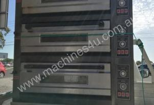 MEC secondhand 3 deck oven  with stone base