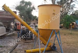 CEMENT AUGER and hopper