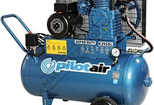 K25SDL Pilot Super Duty Air Compressor 100 Litre Tank / 3hp 13.1cfm  / 371lpm Piston Displacement