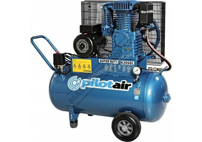 K25SDL Super Duty Air Compressor 100 Litre Tank / 3hp 13.1 / 371lpm Displacement