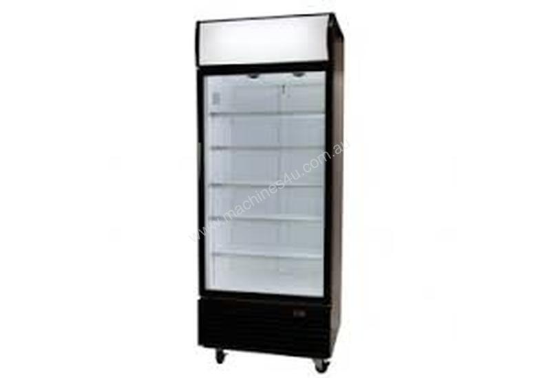 Bromic GM0660LB Upright Chiller / Fridge Single Glass door (Black )