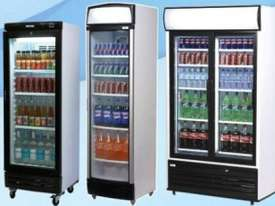 Bromic GM0660LB Upright Chiller / Fridge Single Glass door (Black ) - picture3' - Click to enlarge