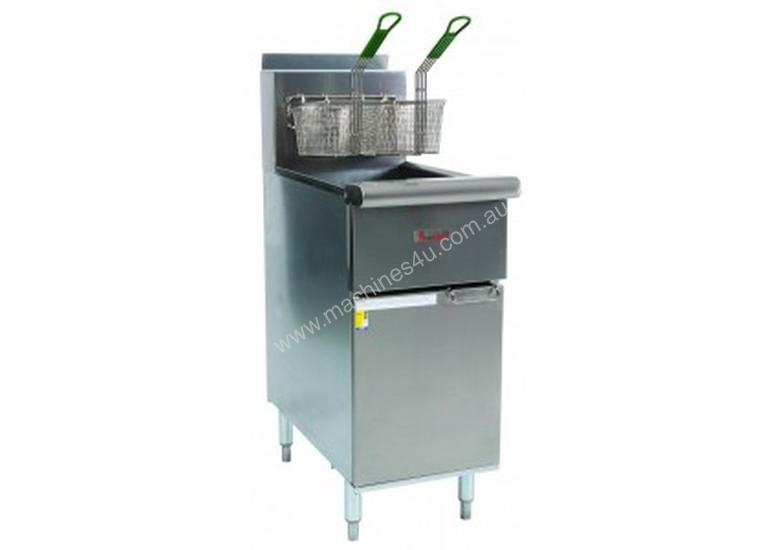True heat CSR42G Free standing double basket fryer