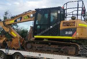 CAT 312D, 13ton Excavator, only 2100hrs. EMUS NQ