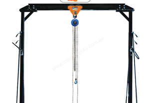 18140BD - Adjustable Wheeled Gantry, Chain Block and Push Girder Trolley Bundle Deal