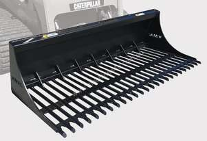 Skid Steer Rake Bucket 1585mm wide