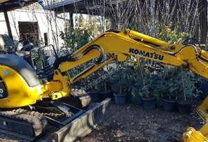 Almost New Komatsu Excavator PC30MR-3
