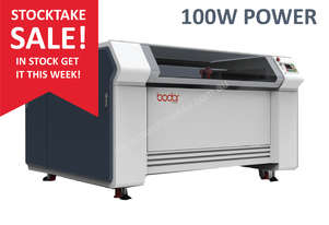 STOCK SALE - 100W -1.3m x 0.9m bed - Laser Cutter/ Engraver - IN STOCK