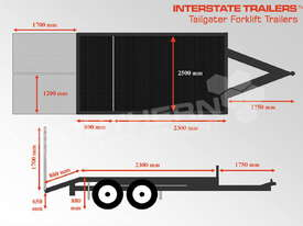 Plant Trailer 4.5 TON for Moffett Tailgater Forklifts ATTPT - picture1' - Click to enlarge