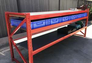 2.4mx0.7m Workbench Garage Warehouse Metal PickUp or FREE DELIVERY! (Melb Metro)
