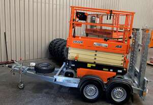 New 2019 JLG 1932R 19' Scissor lift with Galvanize Trailer