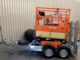 New 2019 JLG 1932R 19' Scissor lift with Galvanize Trailer  - picture0' - Click to enlarge