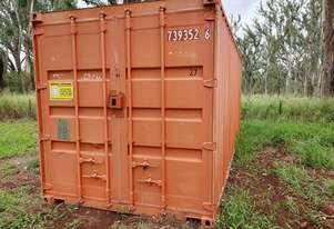 WELDED SHIPPING CONTAINER 20'X 8' & CONTENTS