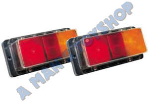 TRAILER LIGHT SET RECT WATER PROOF