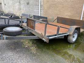 Cattanach Grey Single Axle Mower Trailer - picture0' - Click to enlarge
