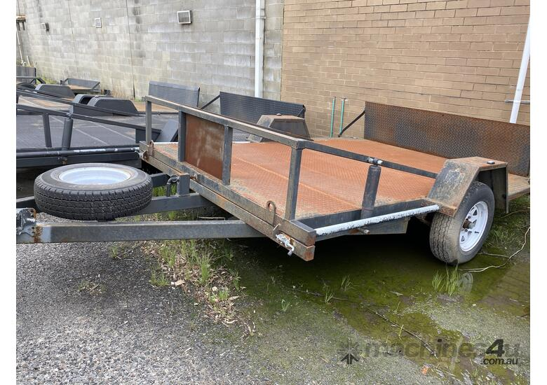 Cattanach Grey Single Axle Mower Trailer
