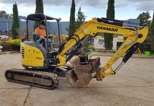 USED 2017 YANMAR VIO35-6 EXCAVATOR WITH LOW 1145 HOURS