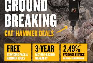 Cat B2s Silenced Hammer with 3 year warranty - compatible with 1.7-3.5t excavator