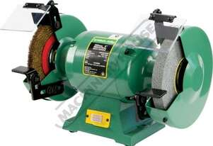 ATBG600/8WBM Industrial Bench Grinder Ø200mm Coarse Wheel & Ø200mm Wire Brush 0.6kW - 0.8HP Motor