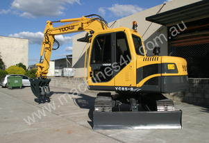 Yuchai YC85-8 Excavator 8ton with Kubota engine