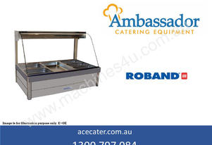 Roband Curved Glass Three Bay Hot Food Display