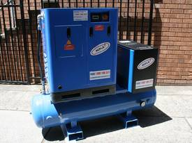 German Rotary Screw - 10hp 7.5kW Rotary Screw Air Compressor with Tank Dryer and Oil Removal Filters - picture1' - Click to enlarge