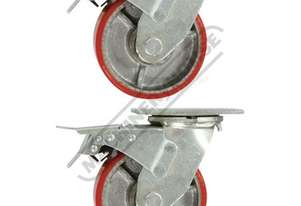 CW-125S Industrial Caster Wheels Ø125mm Wheels 2 x Swivel/Brake
