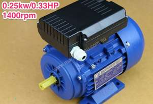0.25kw/0.33HP 1400rpm 14mmshaft motor single-phase