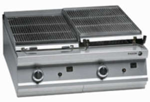 FAGOR Gas 850mm Cast Iron Charcoal Grill BG9-10